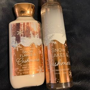 Snow flakes and cashmere bath and Bodyworks